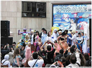finale cosplay groupe sur scène