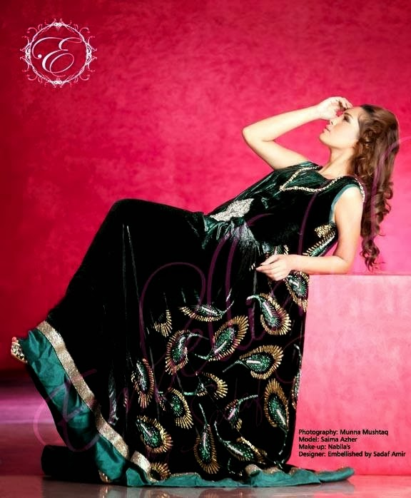 EmbroideredPartyWearDresses2014 wwwfashionhuntworldblogspotcom 12 - Embroidered Party Wear Collection 2014 By Sadaf Amir