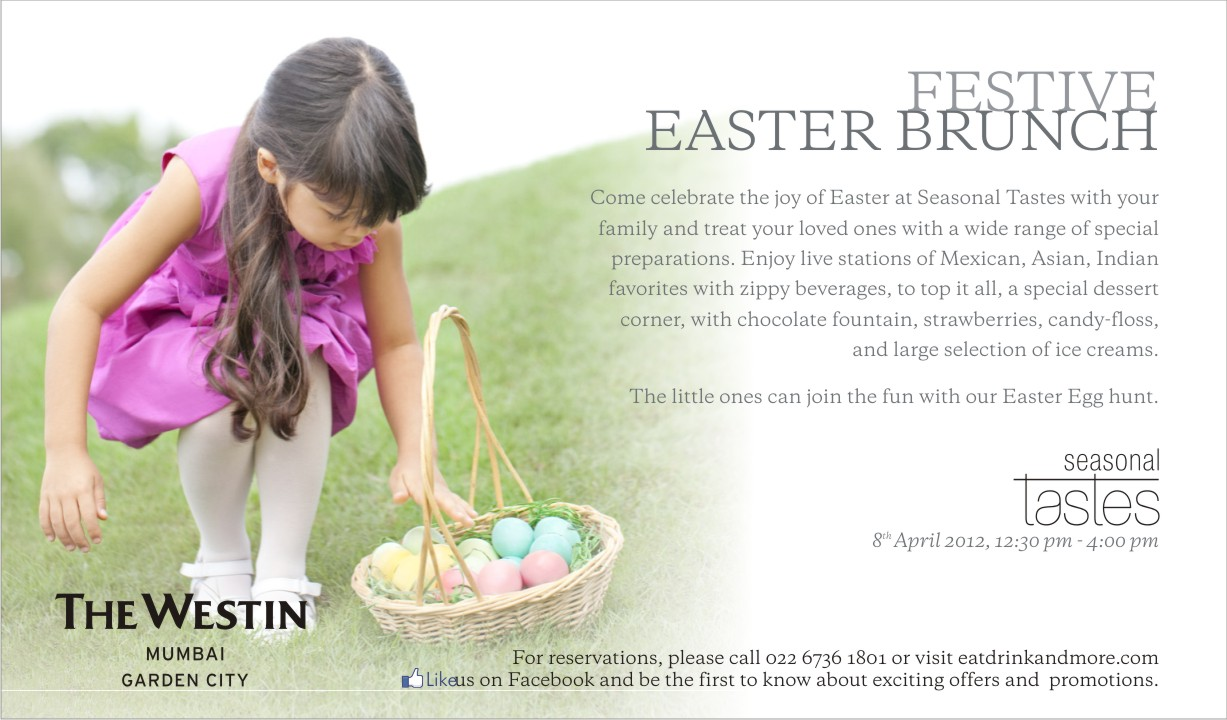 The Westin Mumbai Garden City Egg A Licious Easter Brunch