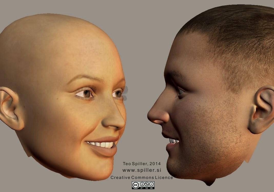 Happy face shape (half profile)