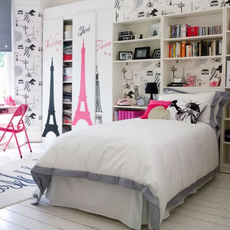 Pink Gray Color Combination Pretty Grey Wall Bedding Pink Paris Theme