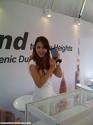 Huawei Ascend to New Heights Media Launch Titiwangsa Kuala Lumpur KL Malaysia 2012 model girl