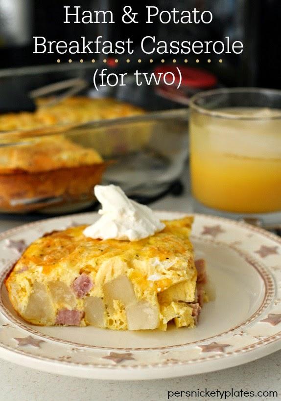 Ham & Potato Breakfast Casserole For Two   Persnickety Plates #spon