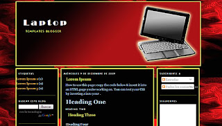 Laptop Blogger Template