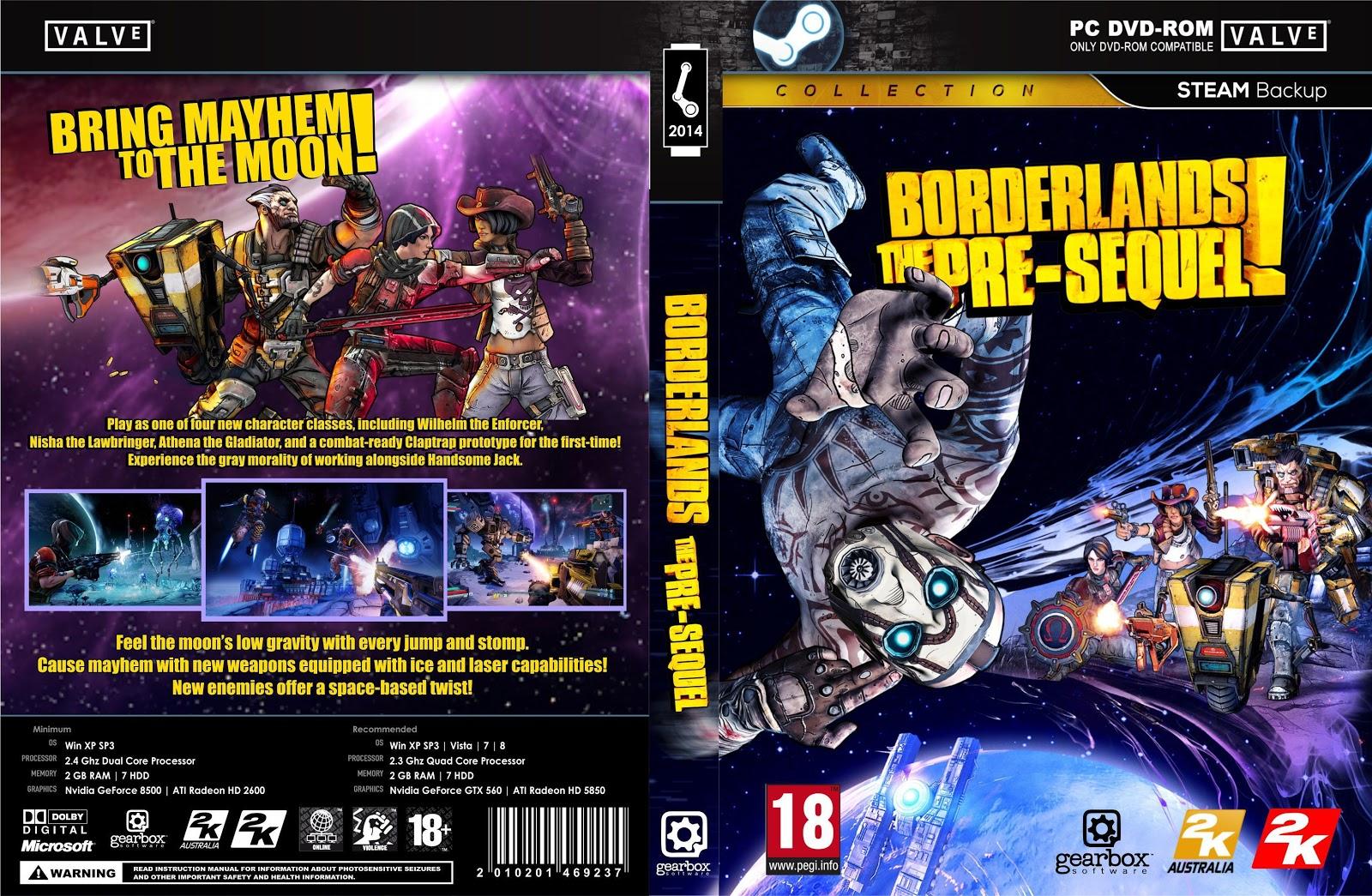 Capa Borderlands The Pre Sequel! PC