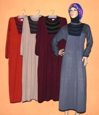 Gamis santai gkm4597 grosir baju muslim murah tanah abang Baju gamis santai