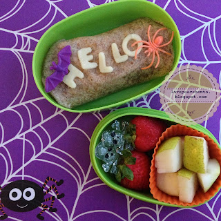 Halloween Bento Lunch with spider theme