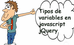Tipos de variables en javascript jQuery