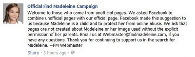 Official Find Madeleine Campaign on Facebook - Page 3 Confirmed