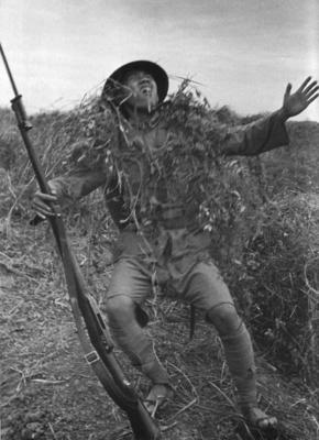 WW2 Chinese soldier shot by Japanese ambush