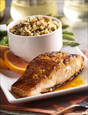 Brown Sugar Salmon with Harissa