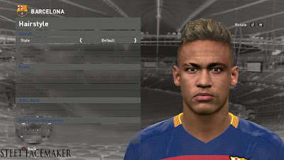 PES 2016 Neymar Jr. Face by Steet Facemaker