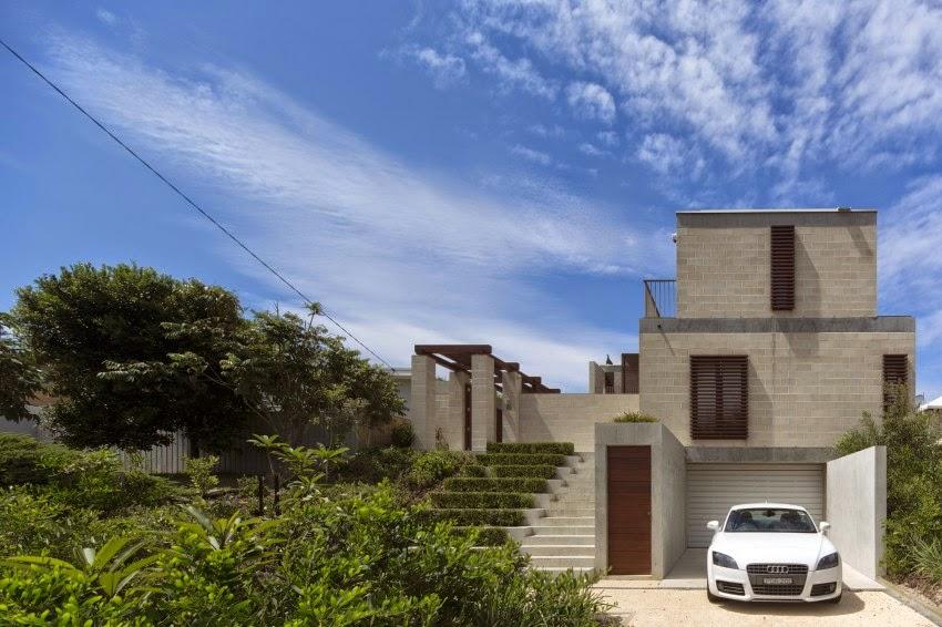 hogares frescos casa bloque en pearl beach australia con vistas impresionantes del oc ano. Black Bedroom Furniture Sets. Home Design Ideas