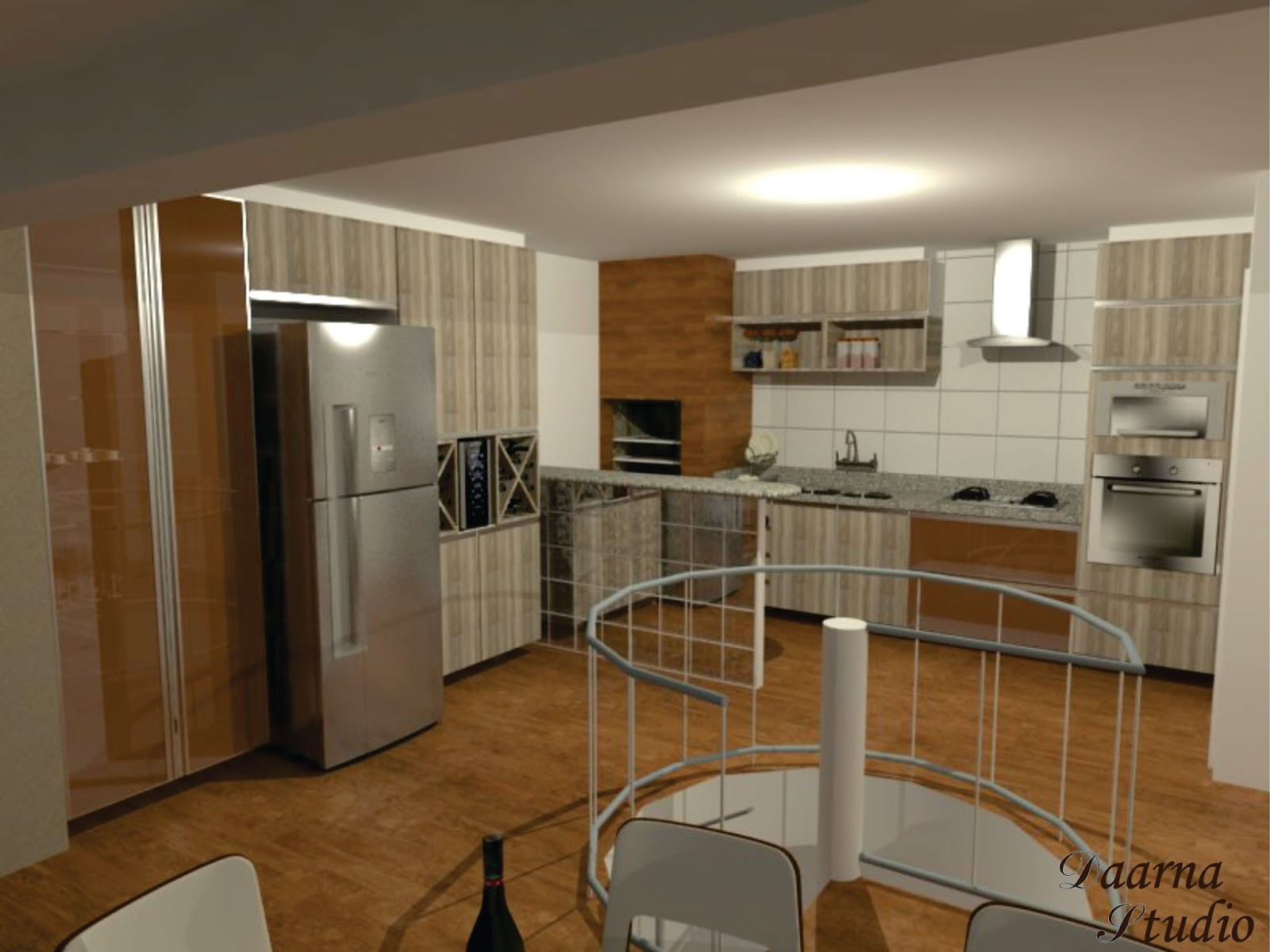 Daarna Arquitetura & Interiores: Projeto de Reforma Cozinha #664727 1600 1199