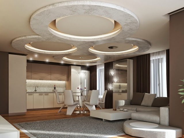 Modern POP False Ceiling Designs   LED Ceiling Lights For Living Room Part 62