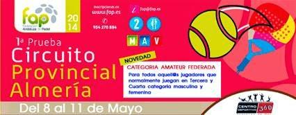 Cartel correspondiente a la 1ª prueba del Circuito Provincial de Almería 2014