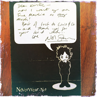 Neil Gaiman card to Curio & Co. - Gadabout TM-1050 time machine user manual - Curio and Co. Curio & Co. www.curioandco.com - by Cesare Asaro and Kirstie Shepherd