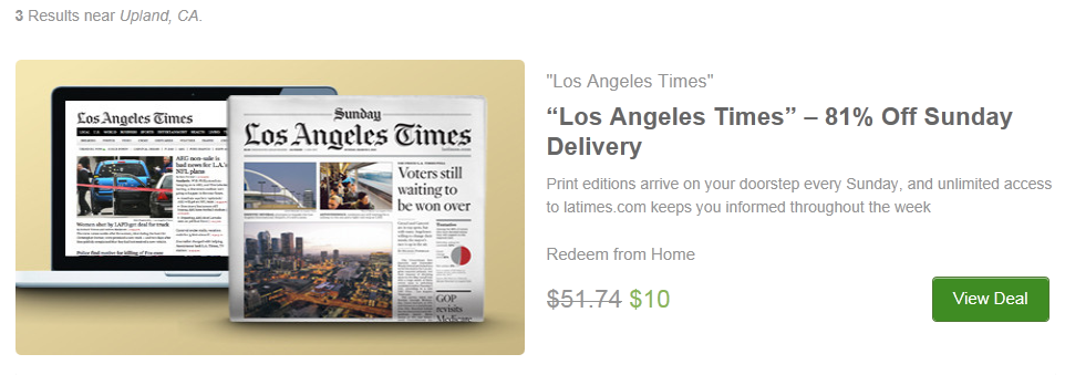 Customers who purchase a Los Angeles Times subscription receive comprehensive and in-depth news coverage. A well respected newspaper with strong local focus, compelling feature articles and sharp editorial content, Los Angeles Times newspaper readers are always well informed.