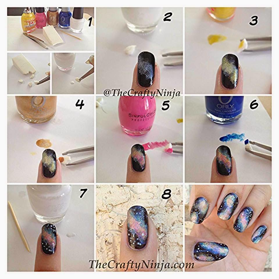 Galaxy nail GET EASY NAIL ART