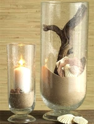 hurricane pillar candle holder display idea