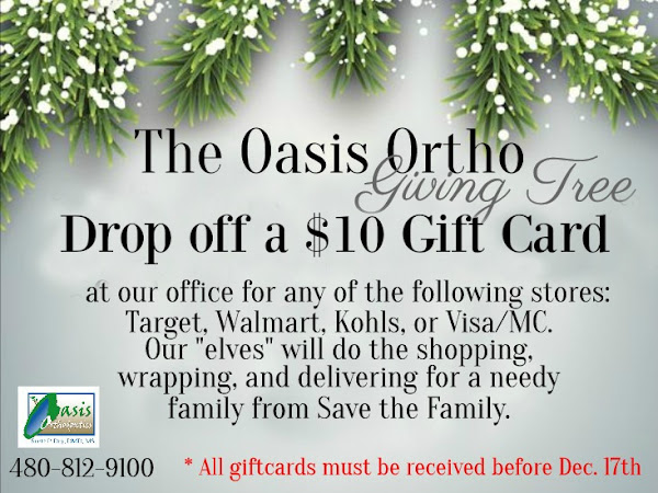 It's Back! The Annual Oasis Ortho Giving Tree!