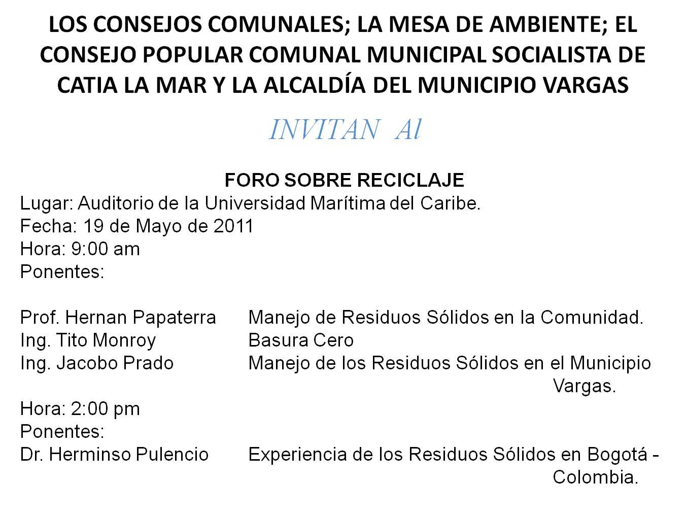 Consejo comunal guaracarumbo sector 2 consejos comunales realizan jornadas de reciclaje - Consejos de reciclaje ...