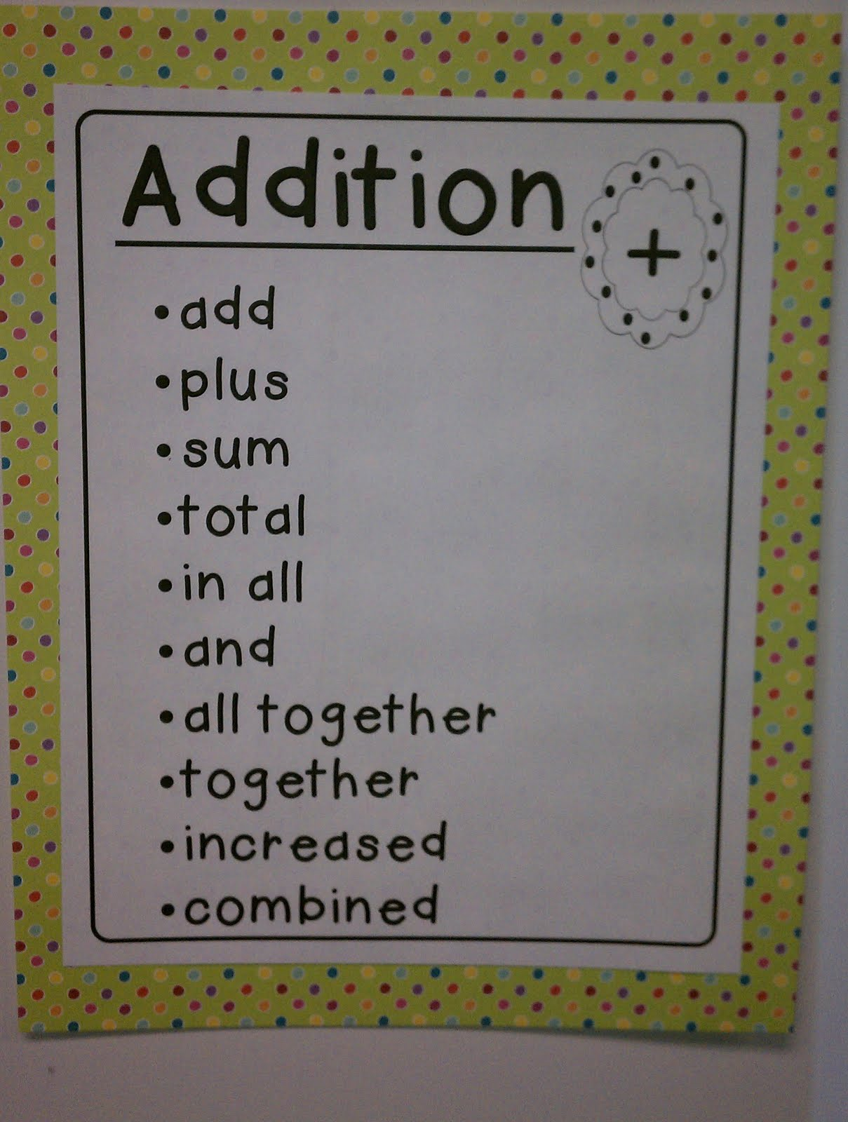 Keywords For Addition And Subtraction - Athlone Literary Festival