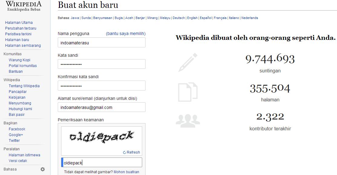 Panduan Lengkap Daftar Akun di Wikipedia 2