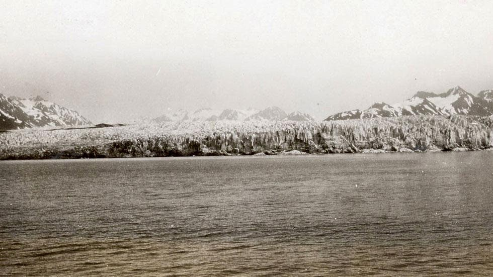 Mc Carty Glacier (1909) - Photos of Alaska Then And Now. This is A Get Ready to Be Shocked When You See What it Looks Like Now.