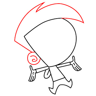 How To Draw Cosmo Fairly Odd Parents Step 4