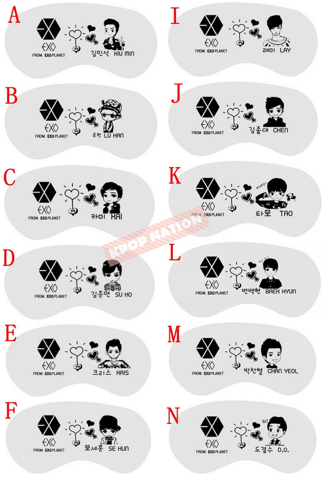 Exo Eye Mask Preorder Kpop Eye Mask
