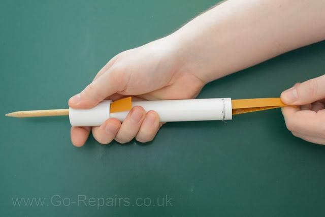Load Dowl into PVC Pipe Gun