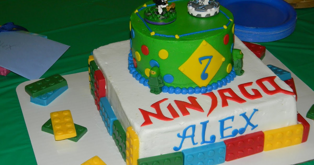 Lego Cake With Candy Melts