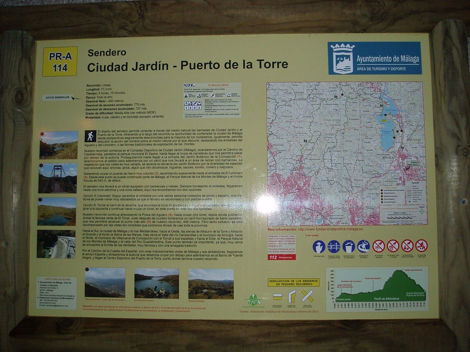 Legi n f nix sendero pr a 114 ciudad jardin puerto de for Polideportivo ciudad jardin