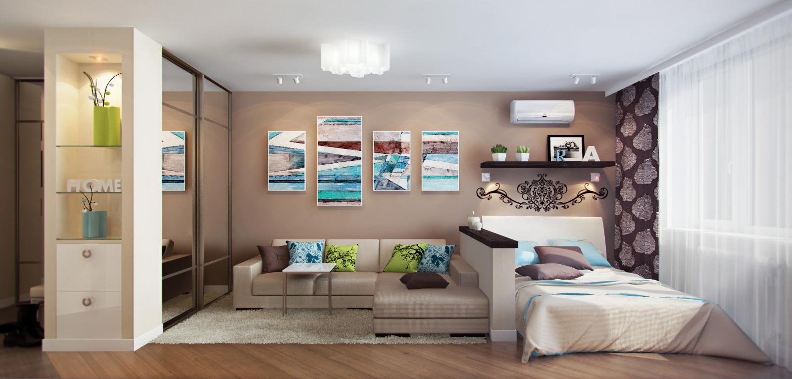 Гостиная спальня фото дизайн