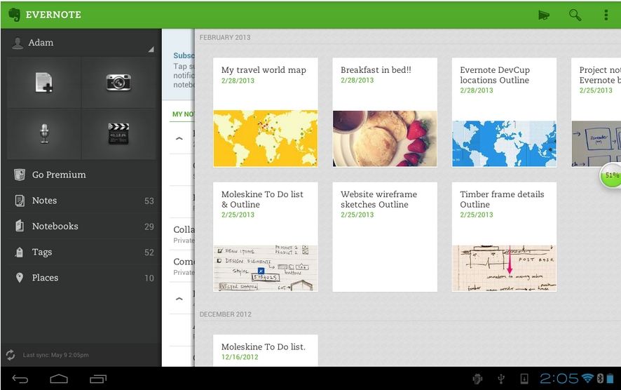 Evernote-Android note-taking app