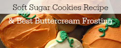best sugar cookies and buttercream frosting