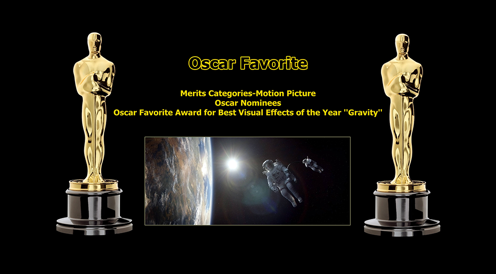 oscar favorite best visual effects award gravity