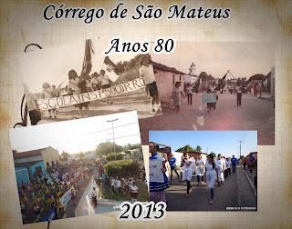 Vídeos do desfile em Córrego