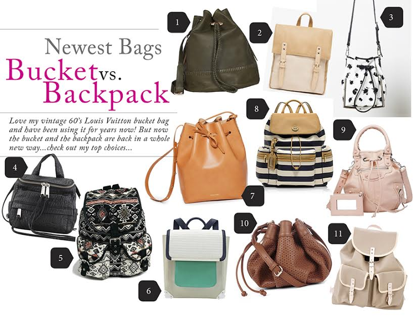 Bucket bags vs. backpack by guest blogger Lynda. Visit www.forarealwoman.com