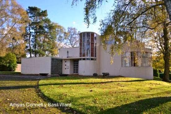 Residencia de estilo Moderno internacional en Inglaterra años 30