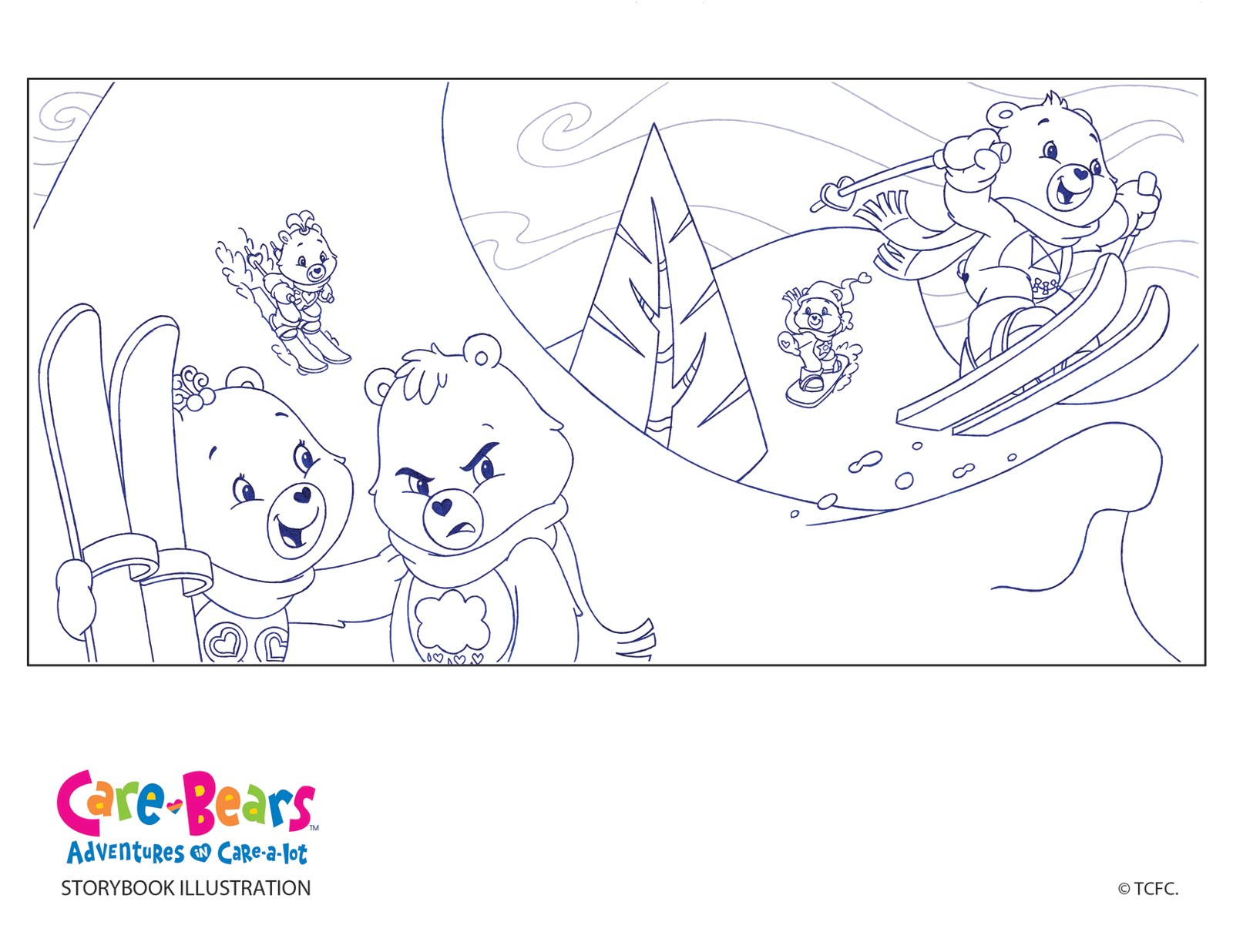 care bear coloring pages christmas - photo#17