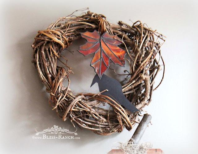 Grapevine Fall Wreath, Bliss-Ranch.com