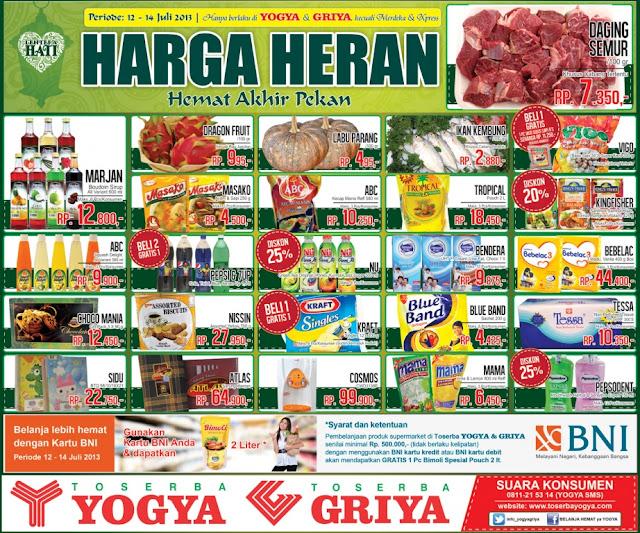 Katalog Toserba Yogya Weekend Promo Terbaru Update 12 – 14 Juli 2013