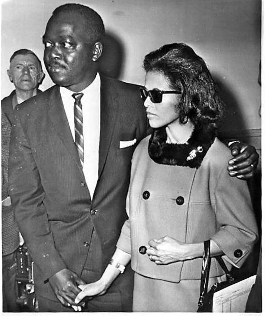 Secret Service Agent Abraham Bolden and wife Barbara