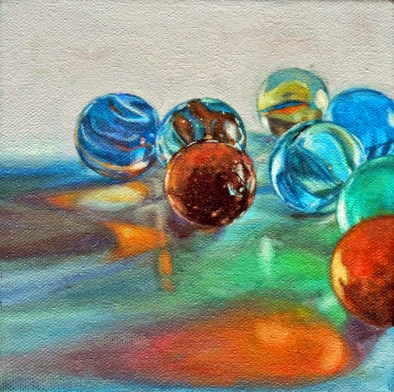 marbles oil painting