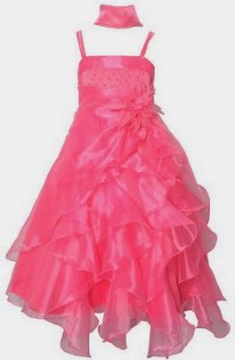 Vestidos de Coral Rojo, Niña de la Flores