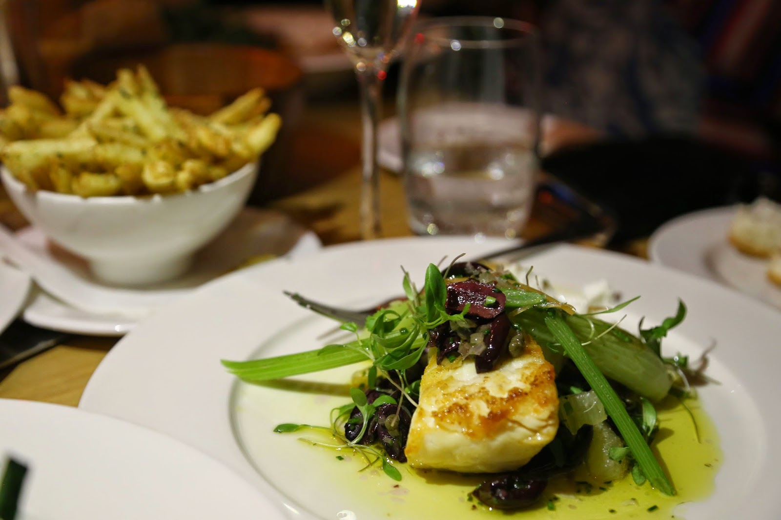 Halibut and chips, Marco Pierre White grill, Dublin