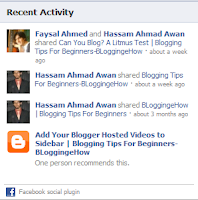 activity feed