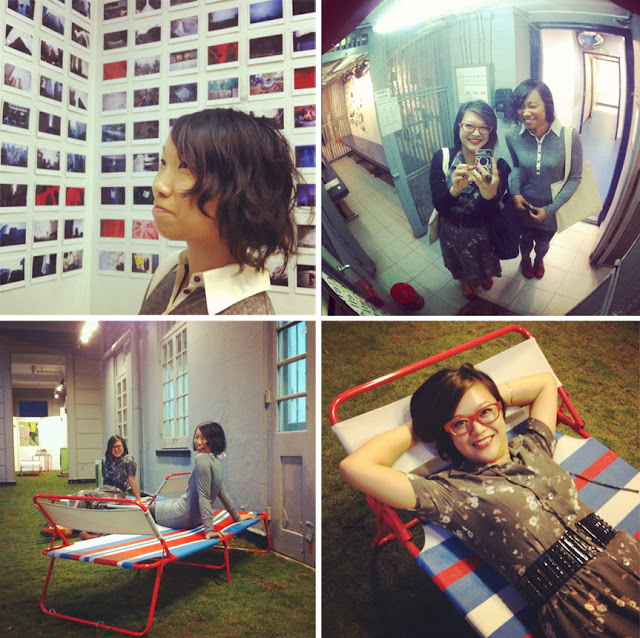 rray lai poloroids instax detour 2012 grass lawn chairs jail cell